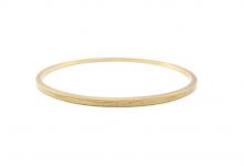 Ovalt guldarmbånd med blonde